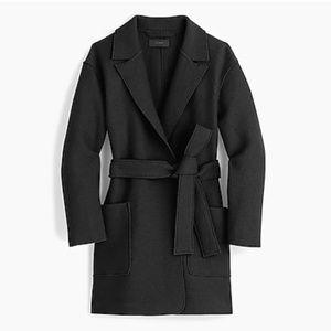 J. Crew Wrap coat in boiled wool-G8031-black